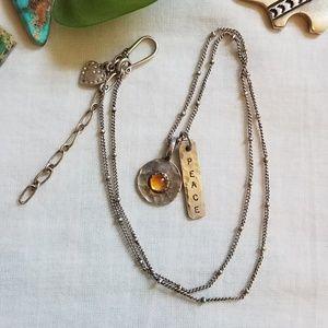 Peace Citrine Handmade Pendant 925 Necklace Heart